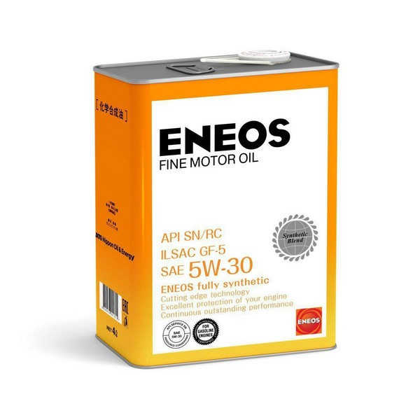 Масло моторное Eneos FINE MOTOR OIL SN 5W-30 4л